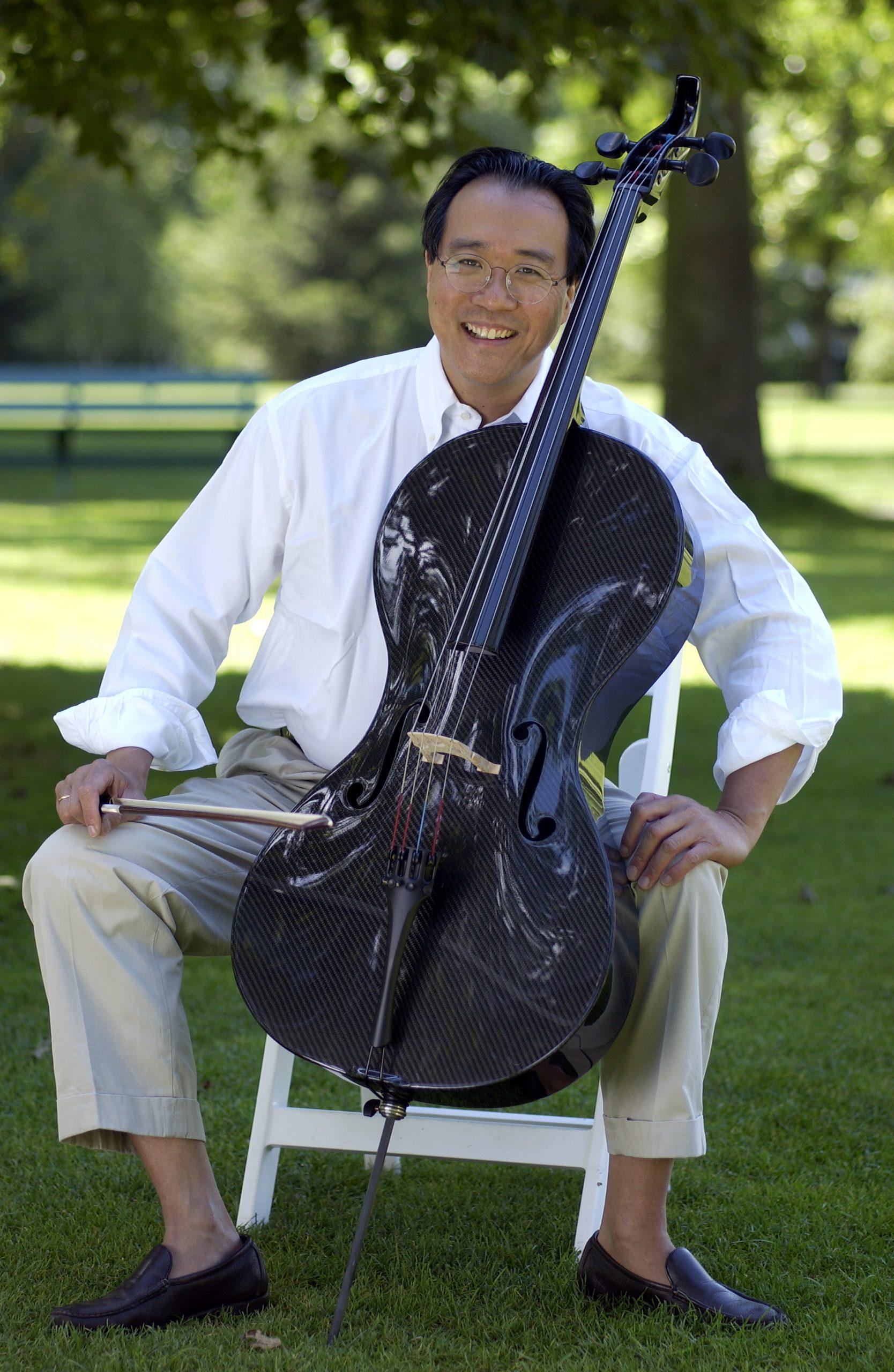 Yo-Yo Ma with Luis and Clark Carbon Fiber Cello. Photo: Kevin Sprague