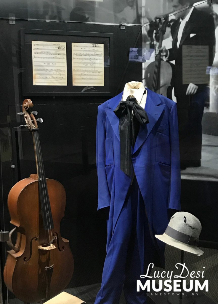 I Love Lucy cello in the display at the Lucille Ball Desi Arnaz Museum
