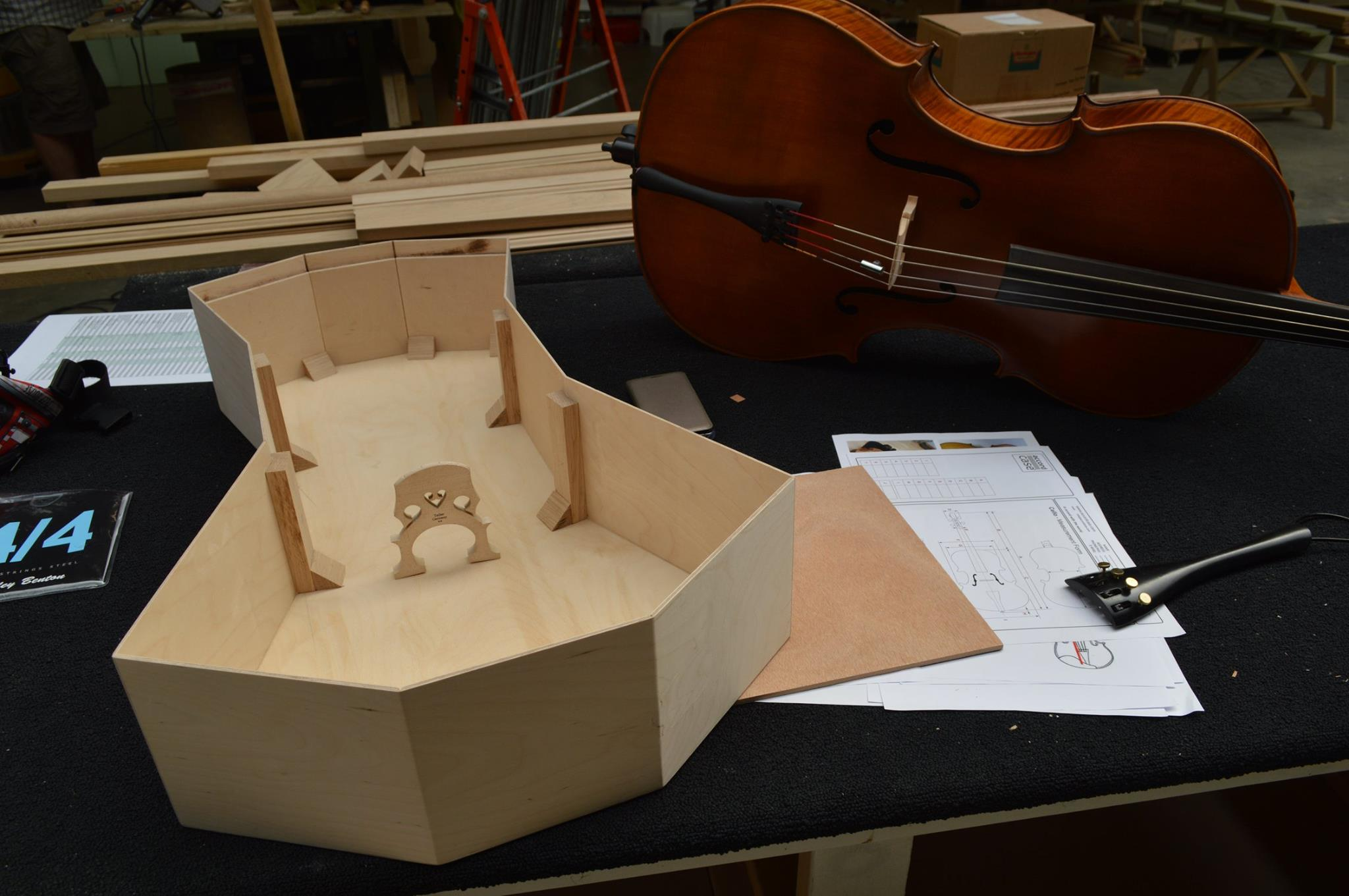 XPS Cello under construction by Anika BeauquesneXPS Cello under construction by Anika Beauquesne