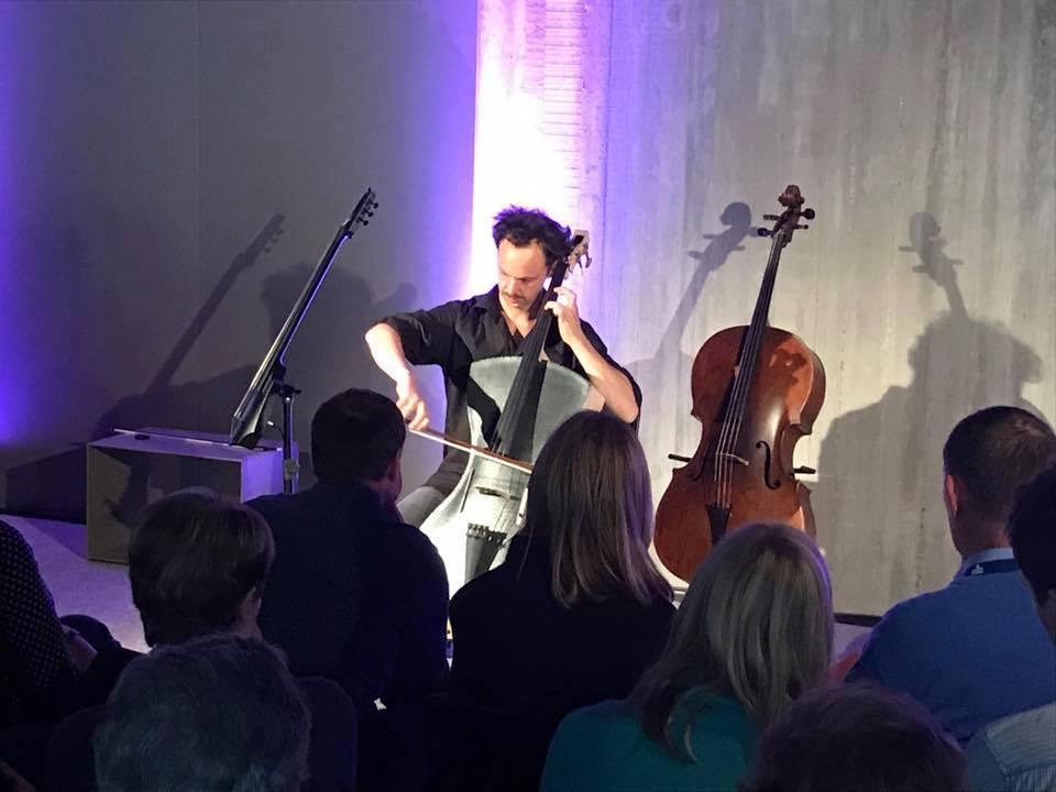 Styrofoam-Carbon Cello by Tim Duerinck