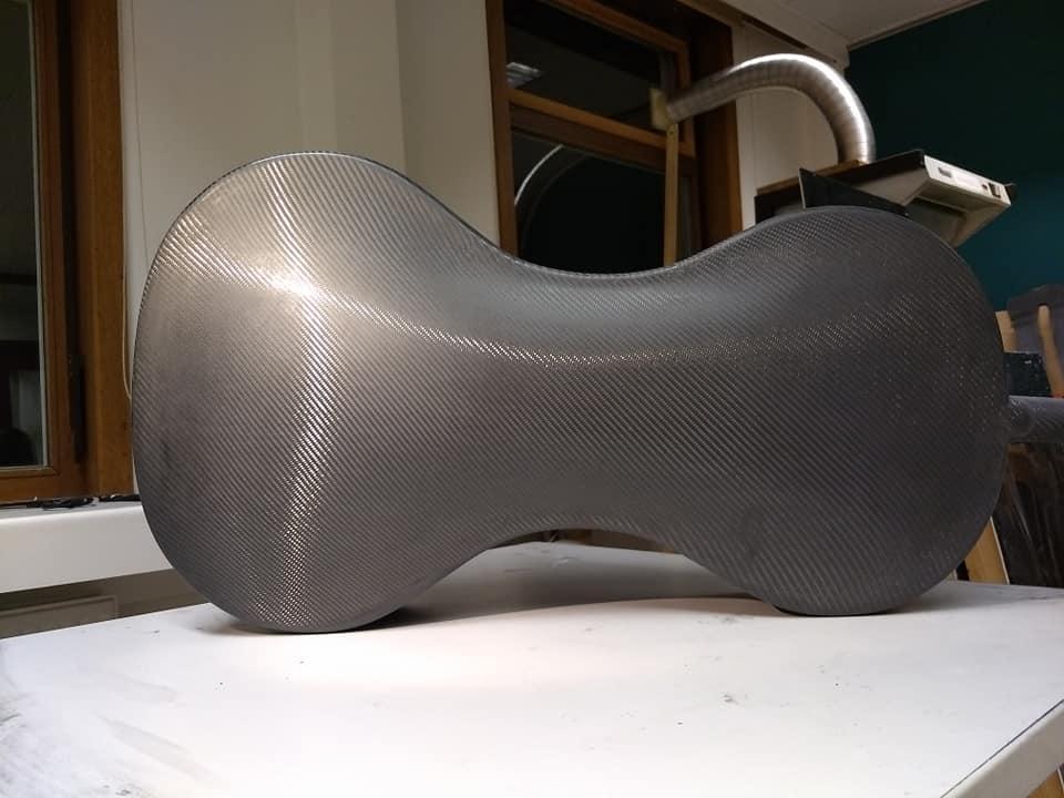 Tim Duerinck Carbon Fiber Cello Detail of Back