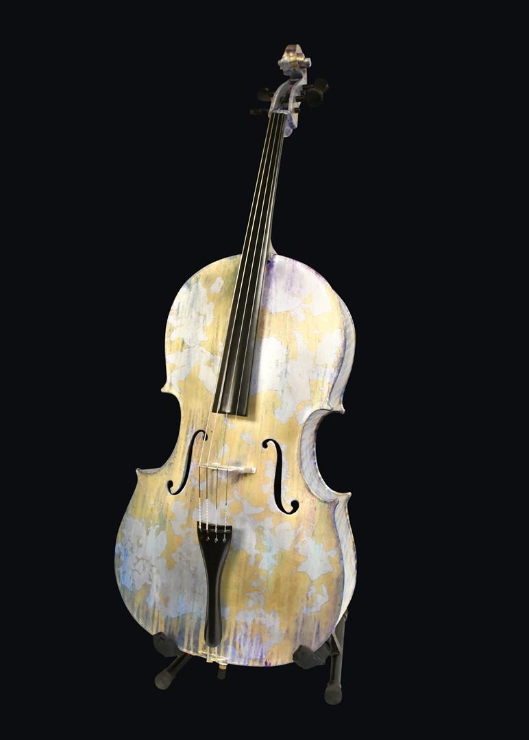 Maddie Frank 3D Printed Cello – Photo Courtesy AMUG