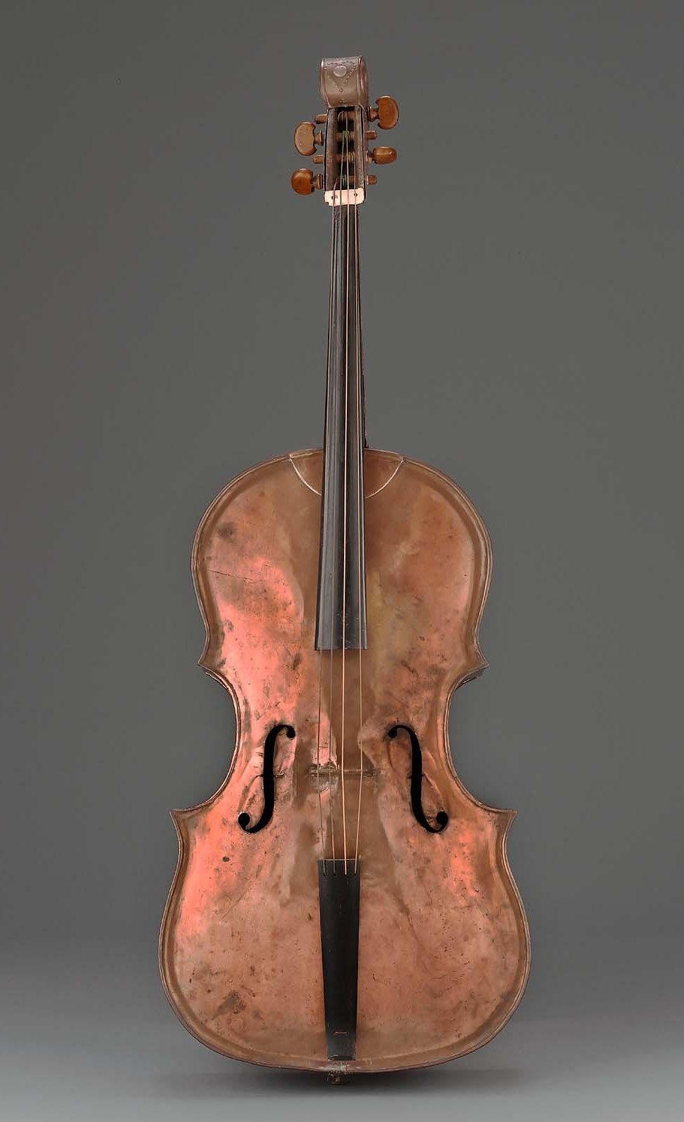 Copper Cello from Bosham Parish Church. MFA, Boston (18.656)