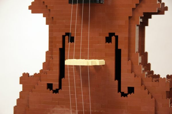 LEGO Cello by Nathan Sawaya. Photo courtesy Nathan Sawaya