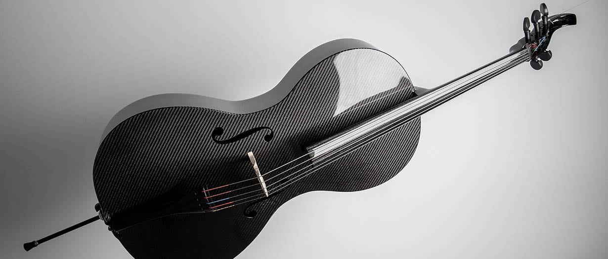 5-String Carbon Fiber Cello by Luis and Clark. Photo: Kevin Sprague