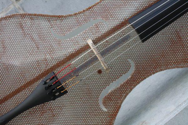 Detail of Glass Fiber Cello by Tim Duerinck