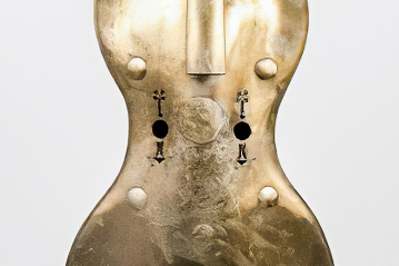 Copper Cello by A. L. of Fontaine-l'Évêque (1840)