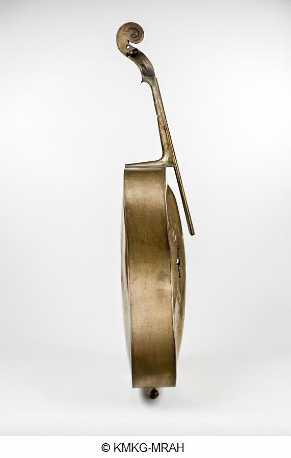 Copper Cello by A. L. of Fontaine-l'Évêque (1840)