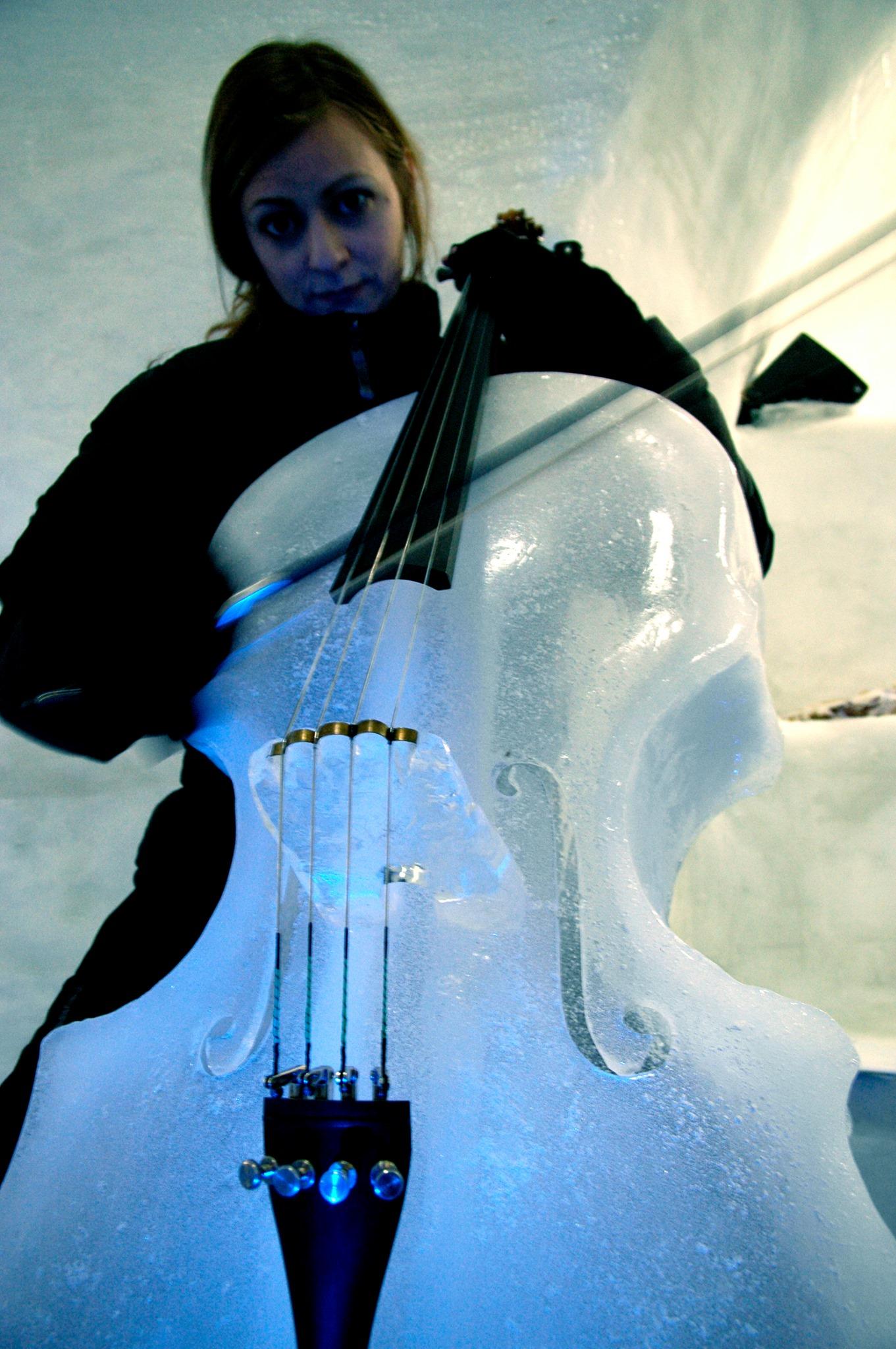 Ice Cello – Ice Music – Photo: Maria Fäldt