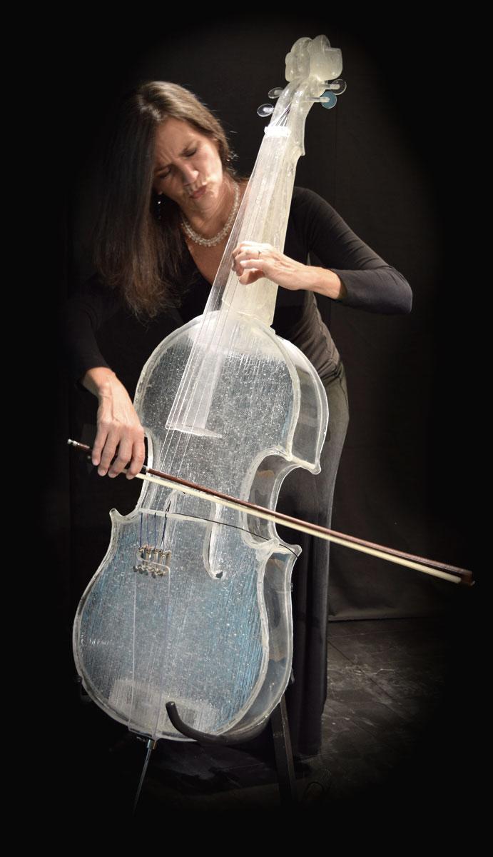 Gary Word, Glass Cello. Prototype #2. Photo courtesy Gary Word