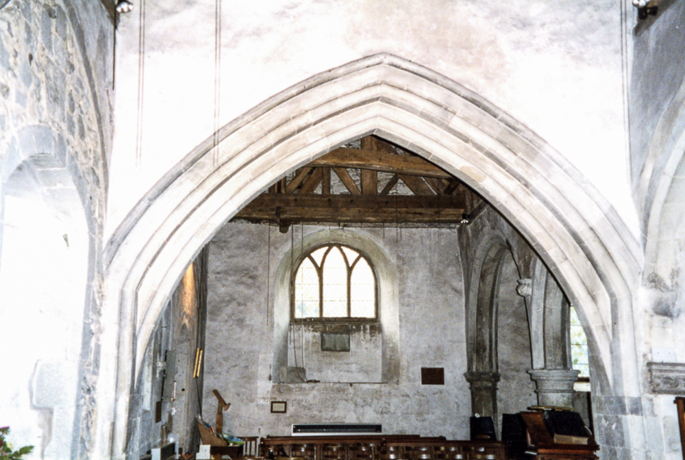 St. Lawrence's, Caterham. This is where the West Gallery used to be.