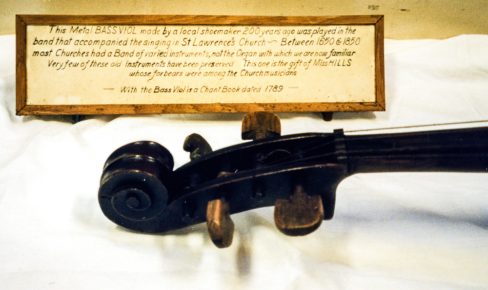 Metal Cello from St. Lawrence's, Caterham.
