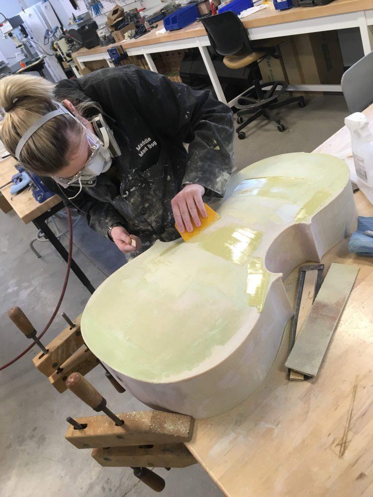 Maddie Making Cello