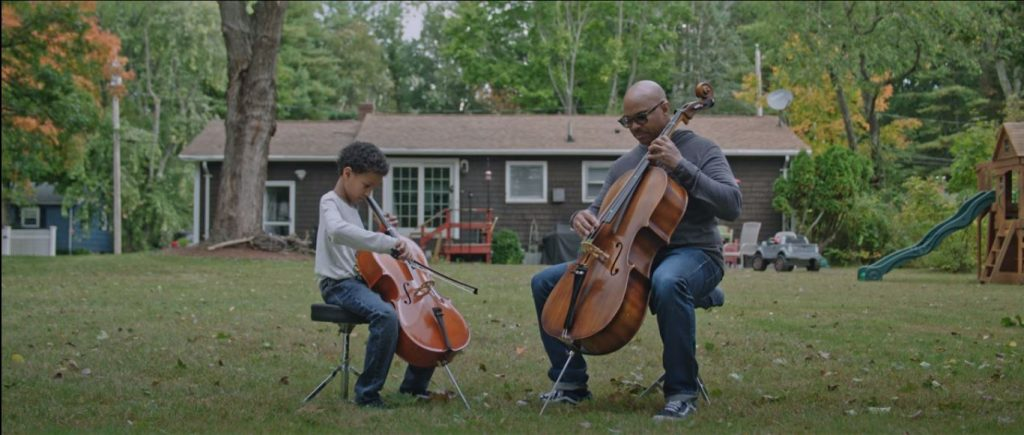 Cellists from Biden American the Beautiful Video
