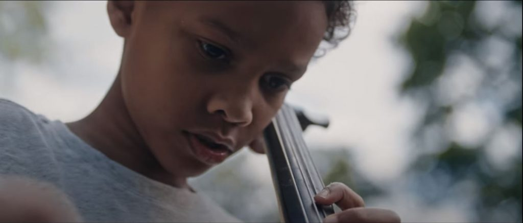 Young Cellist from Biden American the Beautiful Video