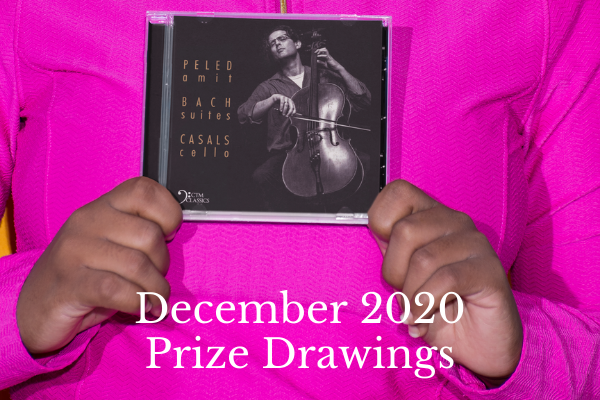 Amit Peled Bach CD cover. December 2020 Prize Drawings